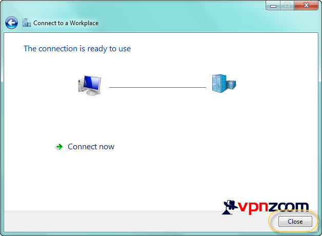 Windows 7 PPTP VPN Setup Step 10