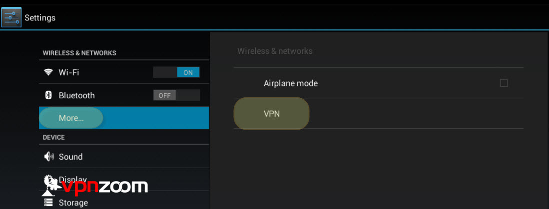 Android VPN PPTP Setup Step Two