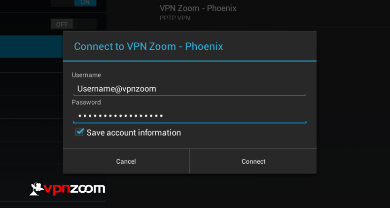 Android VPN PPTP Setup Step Six