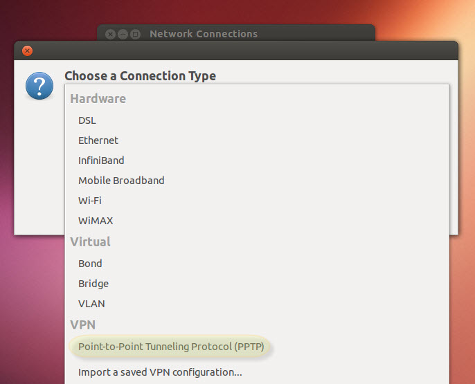 Ubuntu Linux PPTP VPN Setup Guide Step Three