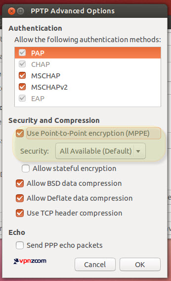Ubuntu Linux PPTP VPN Setup Guide Step Six