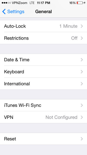 iPhone VPN L2TP Setup Guide Step Two