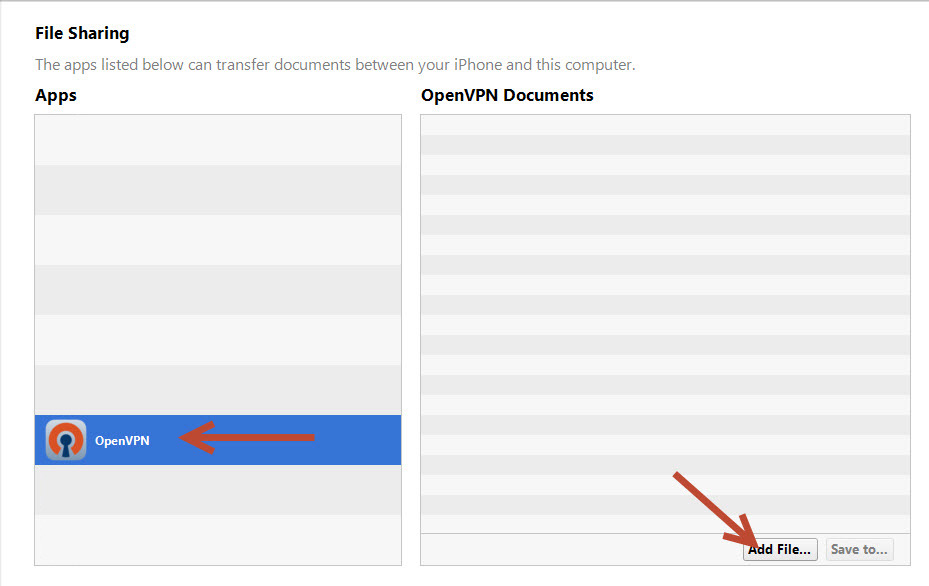 Apple IOS OpenVPN Setup Guide Step Four
