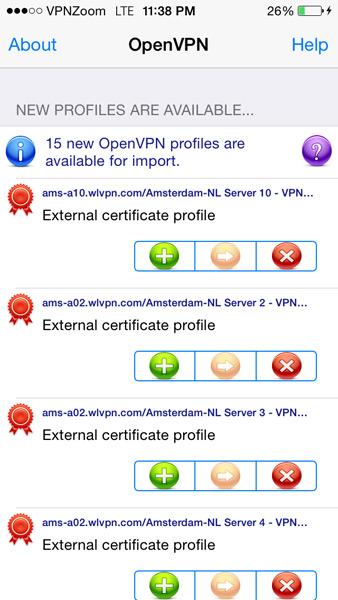 Apple IOS OpenVPN Setup Guide Step Six