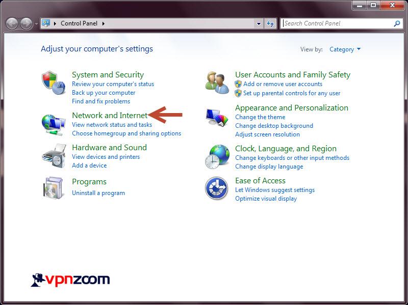 Windows 7 L2TP VPN Setup Step 2