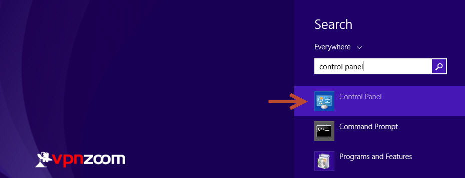 Windows 8 L2TP VPN Setup Guide Step 1